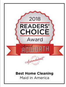 2018 Reader's choice award home cleaning Acworth Business Association
