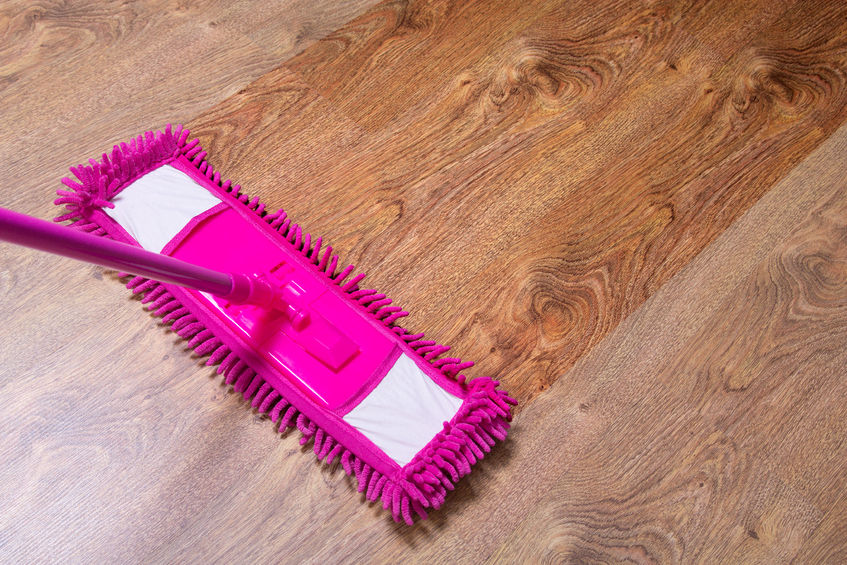 Cleaning and mopping floors is just another Maid in America service