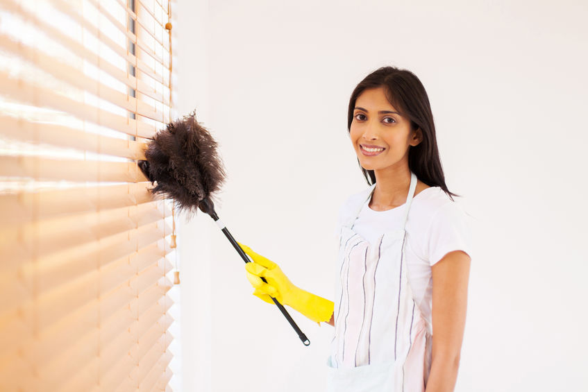 Maid in America offers window blind cleaning as an extra service available.