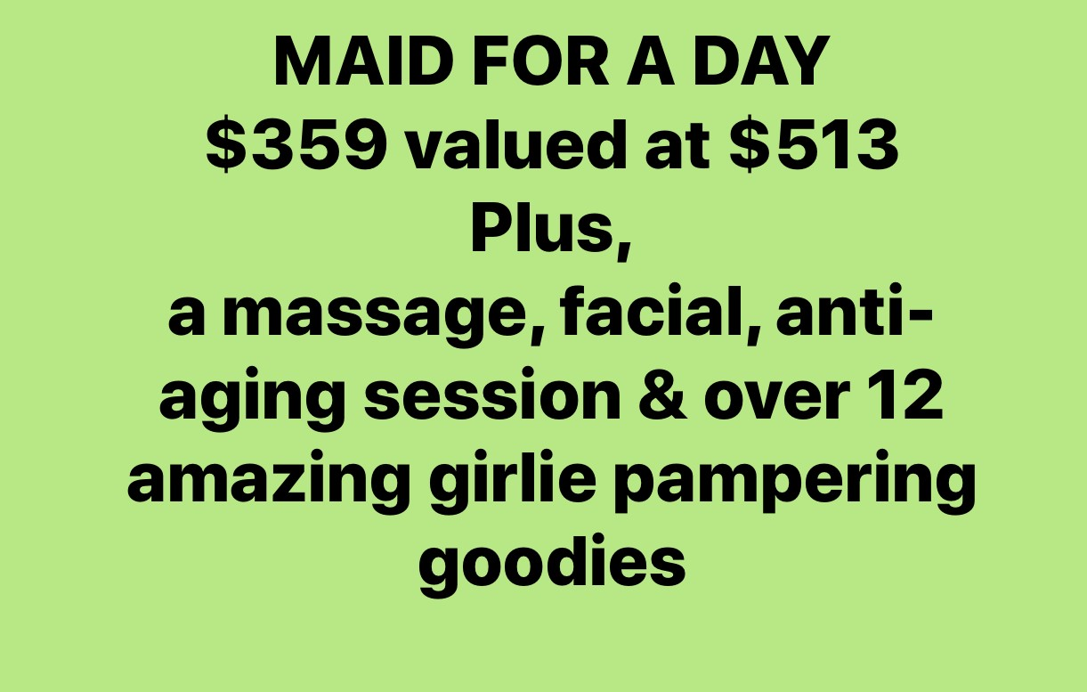 Ahh Package-Maid for a Day